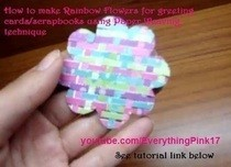 Diy Rainbow Paper Flowers For Scrapbook