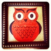 Retro Owl Collage