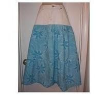Half &amp; Half Denim Maxi Skirt