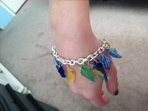 """Glass Shards"" Charm Bracelet"