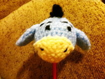 Crochet Eeyore Car Aerial Topper