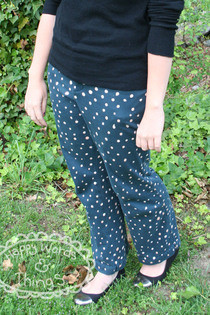 Bleached Polka Dotty Patterned Pants.