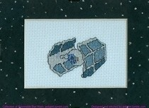 Cross Stitch Tie Fighter