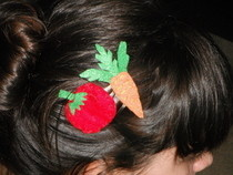 Veggie Hair Clips