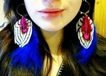 Diy Edge Of Urge Feather Earring (Celeb Style)