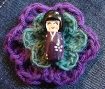 Purple Person (Crochet) Pin