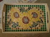 Mosaic Sunflower Tray