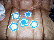 Crocheted Star Wall Hangings