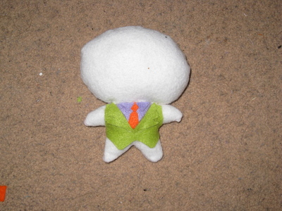 How to make a food plushie. The Joker Plushie - Step 2