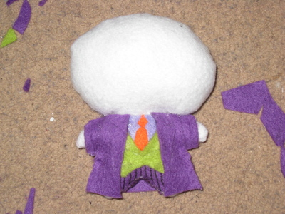 How to make a food plushie. The Joker Plushie - Step 3