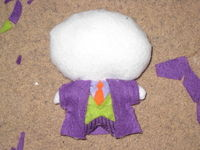How to make a superhero plushie. The Joker Plushie - Step 3