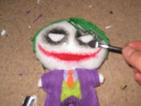 How to make a superhero plushie. The Joker Plushie - Step 4