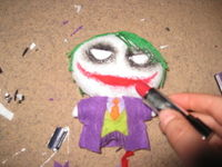 How to make a superhero plushie. The Joker Plushie - Step 5