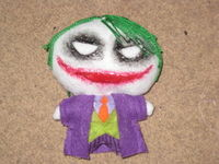 How to make a superhero plushie. The Joker Plushie - Step 6