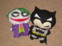How to make a superhero plushie. The Joker Plushie - Step 7