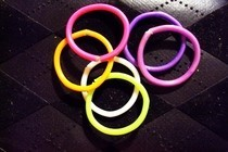 Fluo Rainbow Rings