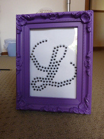 Googly Eye Monogram/Initial Picture