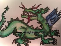 Chinese Dragon Blue