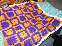 Crocheted School Spirit Blanket