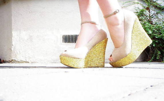 Diy Glitter Wedge