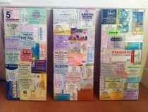 Decoupage Gig Ticket Canvas
