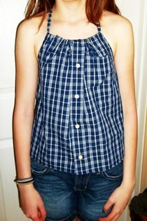 Men's Button Up Shirt To Women's Halter Top