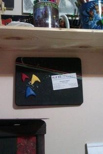 Star Trek Cookie Tin Lid Magnet Boards