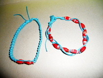 Friendship Bracelets With Paper Beads