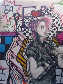 Emilie Autumn Pop Art Themed Drawing.