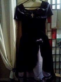 Revamp 80's/90's Dress Into Gothic Lolitia Dress