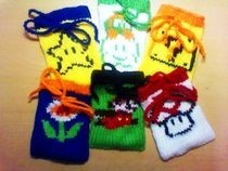 Hand Knitted Stash Bags
