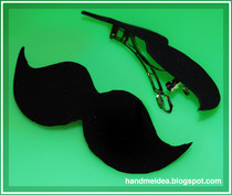 Moustache Hair Clip (Brooch Accesory)