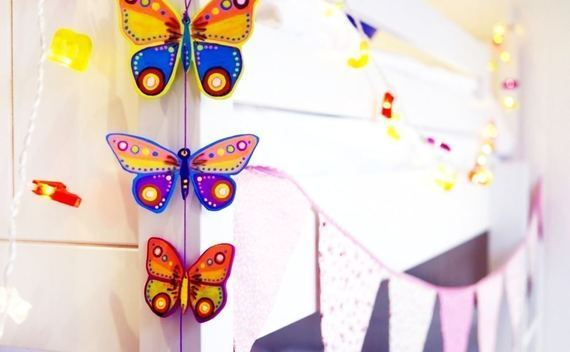 Wooden Butterfly Hanging