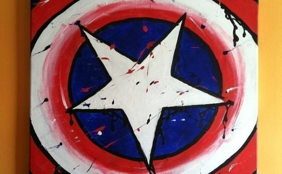 Captain America Shield Painting