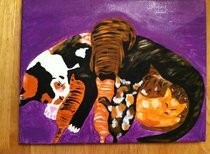 Mama Kitty Painting