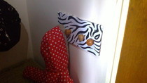 Zebra Print Coat Rack