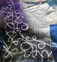 How to make a t-shirt. Yarn Design T Shirt - Step 4