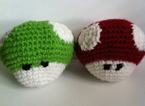 Crochet Mario Power Ups
