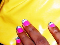 Pink Zebra Nails