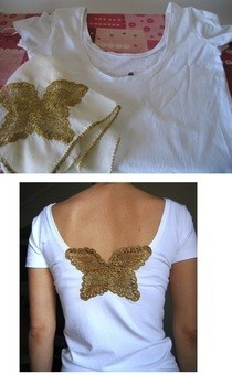 Grandma's Doily On A T Shirt!