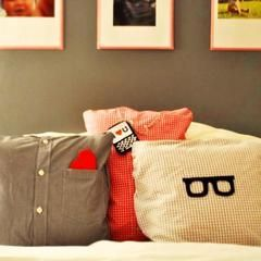 Create Pillows From Daddy's Old Shirts