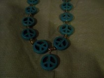 Peace Sign Bead Necklace
