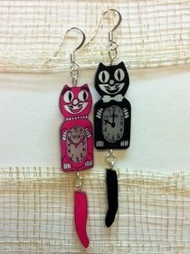 Kit Cat Shrinky Dink Earrings