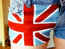 Union Jack Hot Pants