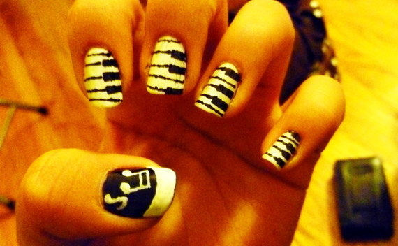 Piano And Music Nails