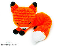 Original Sleepy Fox Amigurumi