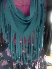 Beaded Fringe Scarf