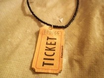 Ticket Necklace