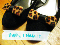 Leopard Bow Shoe Clip Ons