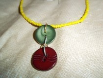 Traffic Light Colors Necklace